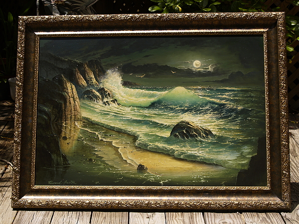 Seascape Painting - Moonlight Sonata by Edward Barton