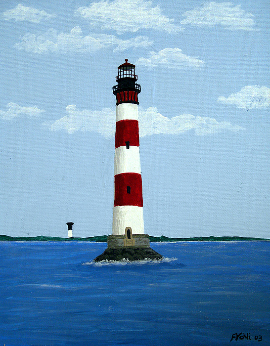Landscape Paintings Painting - Morris Island Light by Frederic Kohli