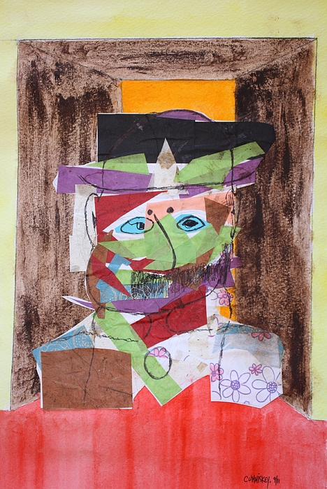 Collage Painting - Mr Leopold Bloom by Roger Cummiskey