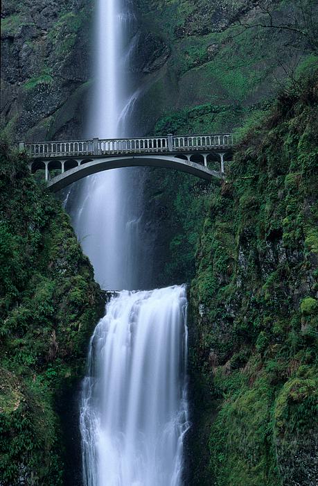 Oregon Photograph - Multnomah Falls by Eric Foltz