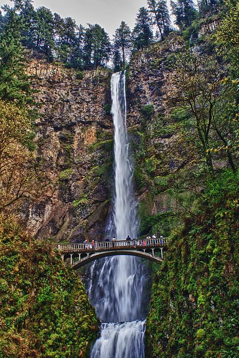 Multnomah Mixed Media - Multnomah Falls by John Winner