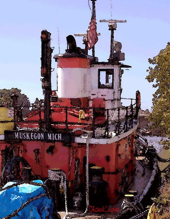 Nautical Photograph - Muskegon Tug by Chuck Kugler