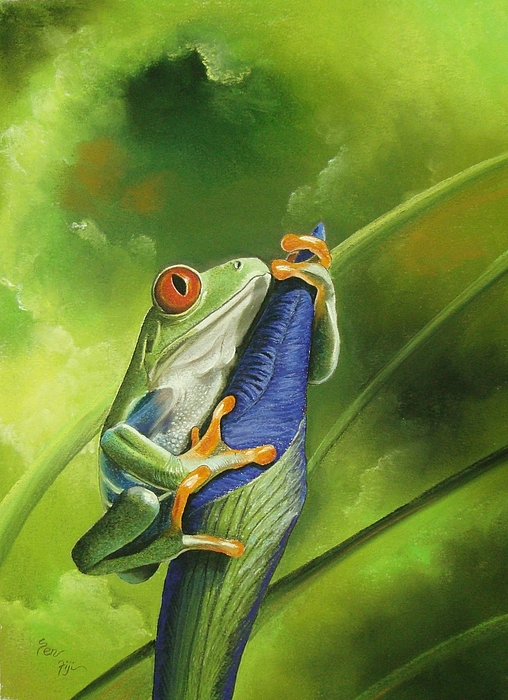 Frogs Painting - My Best Flower by Pravin  Sen
