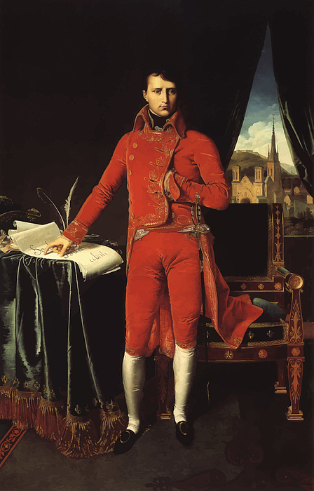 Napoleon Painting - Napoleon Bonaparte by War Is Hell Store
