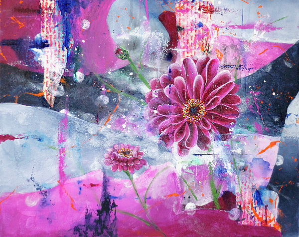 Pink Flower Painting - New Life by Jenny Bagwill
