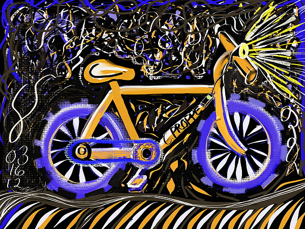 Bike Painting - Night Ride II by Colleen Proppe