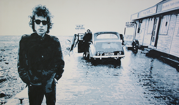 Bob Dylan Painting - No Direction Home by Luis Ludzska