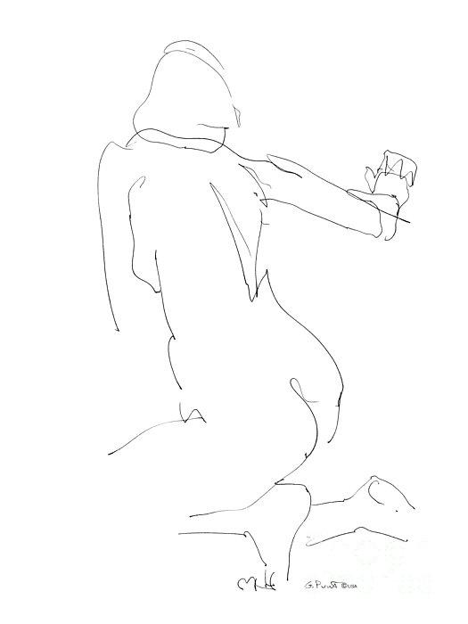 Females Drawing - Nude Female Drawings 8 by Gordon Punt
