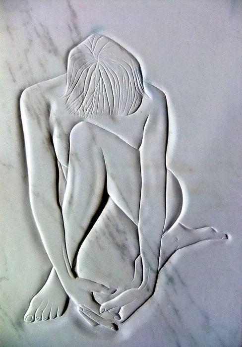 Sculpture Sculpture - Nude Resting by Gary Stull