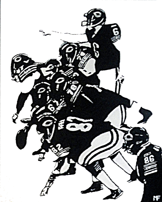 Chicago Painting - O-line by Matthew Formeller