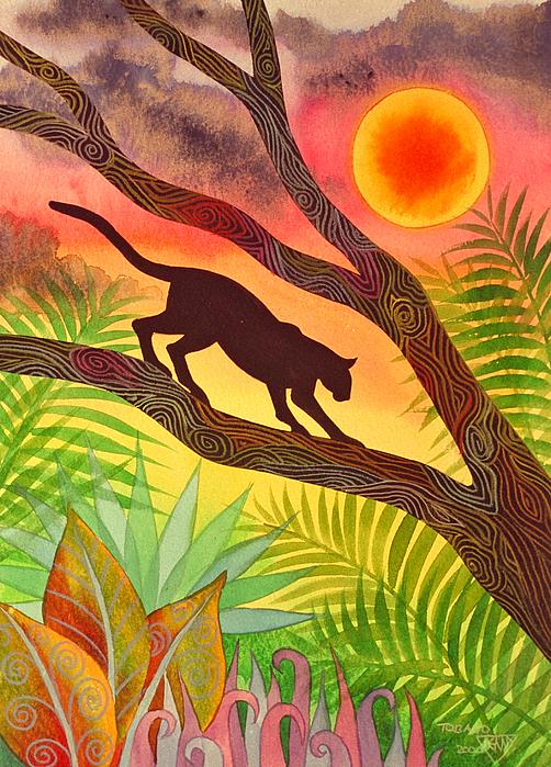 Ocelot At Sunset Painting by Jennifer Baird