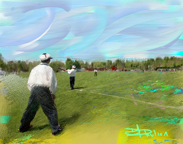 Painting Painting - Old Time Baseball by Donald Pavlica