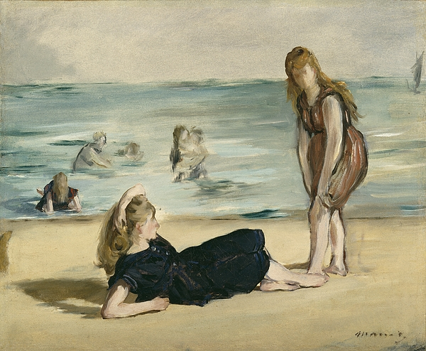 The Painting - On The Beach by Edouard Manet