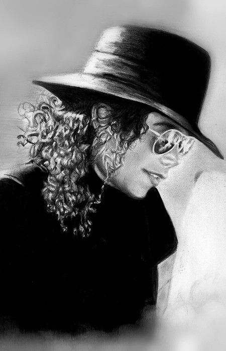 Mj Drawing - On Vacation With Lisa  by Carliss Mora