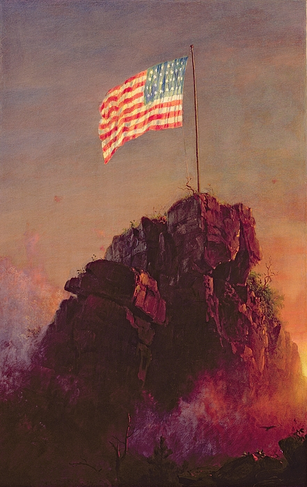 Stars And Stripes Painting - Our Flag by Frederic Edwin Church