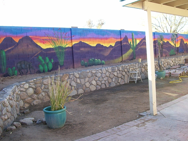 Outside Mural Painting by Kathleen Heese