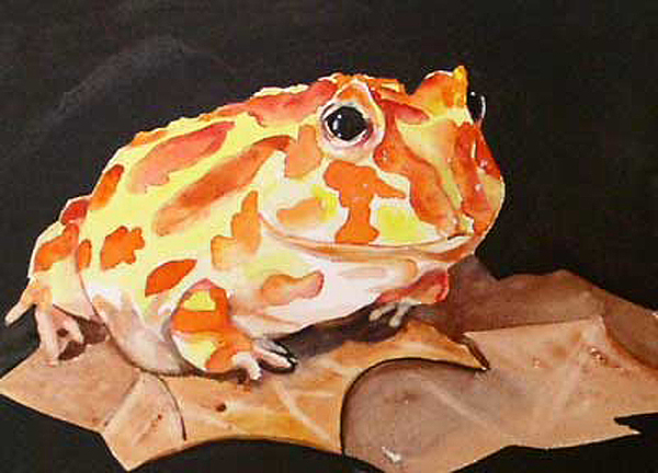 Pac Man Frog Painting - Pac Man by Gina Hall
