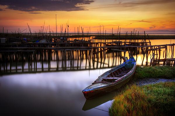 Bay Photograph - Palaffite Port by Carlos Caetano
