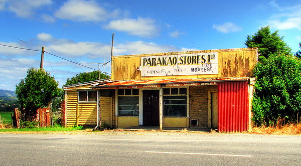 Store Photograph - Parakoa Store New Zealand by Andrew Simmonds