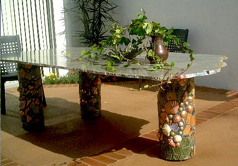 Table Sculpture - Patio Table by Theodora Kurkchiev