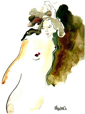 Patti Dances Painting by Leslie Marcus