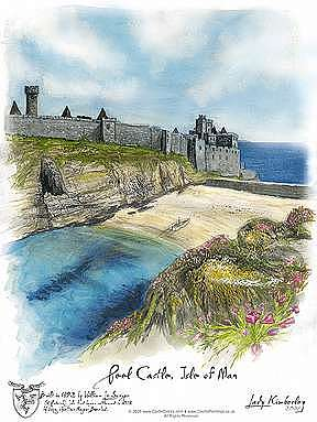 Peel Castle Painting - Peel Castle - Saint Patricks Reef -- Isle Of Man by Kimberley Reid