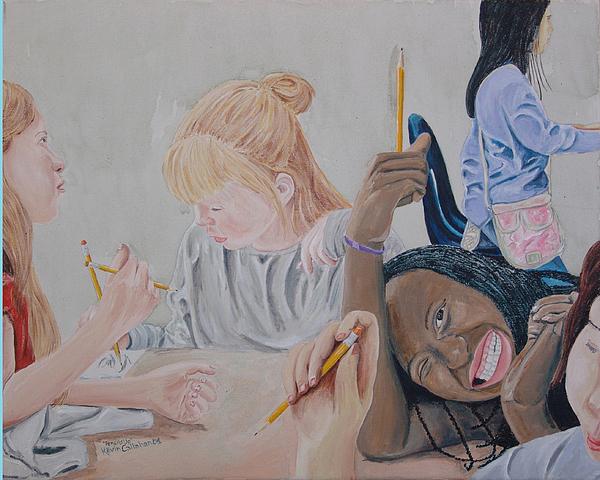 Kevin Callahan Painting - Pencils Up by Kevin Callahan