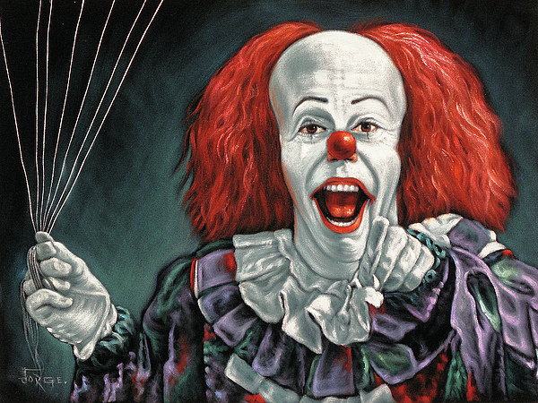 pennywise the dancing clown or bob gray painting by jorge terrones pennywise the dancing clown painting pennywise the dancing clown or bob gray by jorge terrones