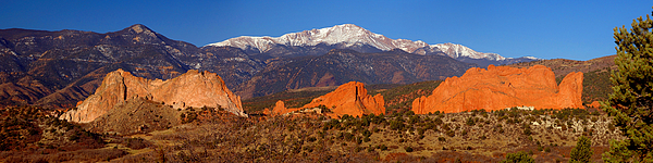 Pike's Peak Photograph - Pikes Peak And Garden Of The Gods by Jon Holiday