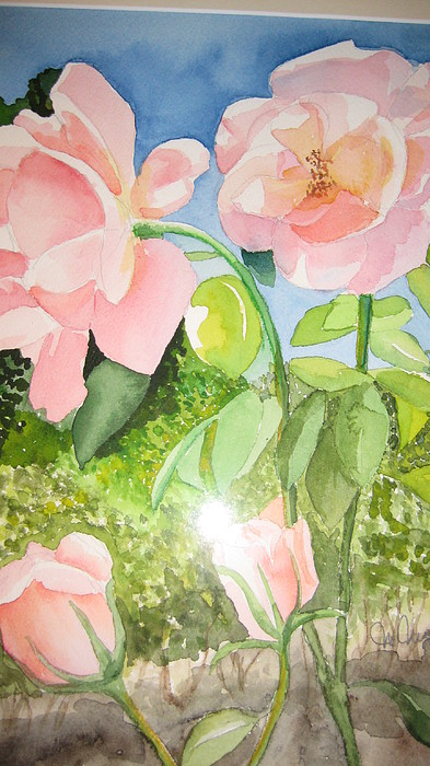 Flowers Painting - Pink Dream by Mabel Moyano