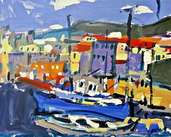 Paintings Painting - Port by Brian Simons