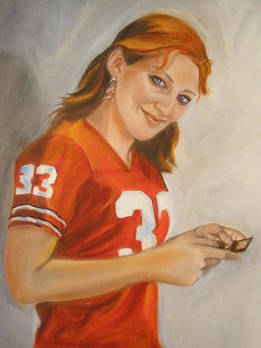 Portrait Of Ellie Painting by Kaytee Esser