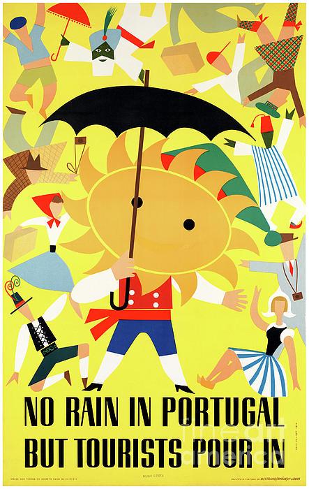 Travel Mixed Media - Portugal Vintage Travel Poster Restored by Carsten Reisinger
