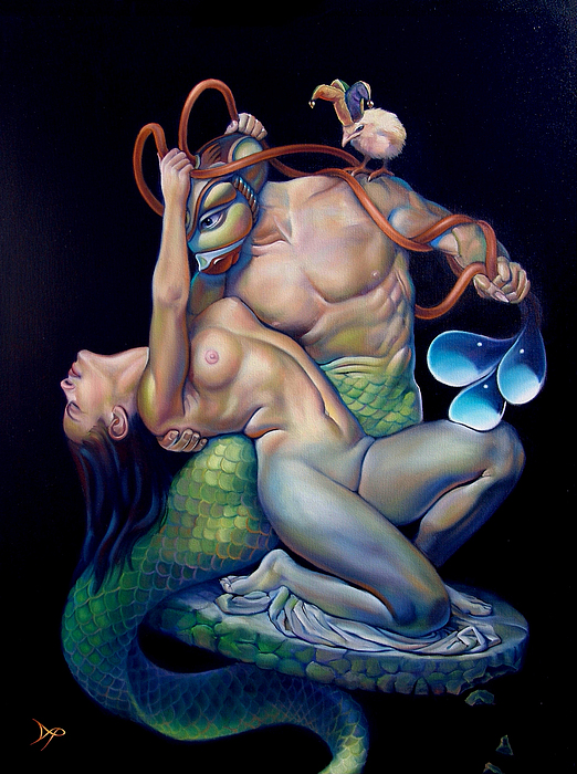 Mermaid Painting - Pygmalion And Galatea by Patrick Anthony Pierson