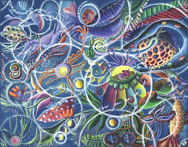 Quantum Painting - Quantum Entanglement by Vera Tour