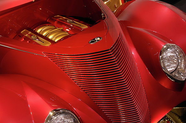 Car Photograph - Red Classic Car Details by Oleksiy Maksymenko