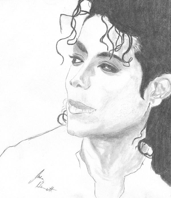 Michael Jackson Drawing - Remembering Michael by Josh Bennett