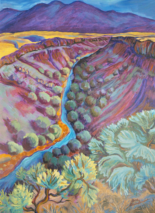 New Mexico Painting - Rio Grande In September by Gina Grundemann