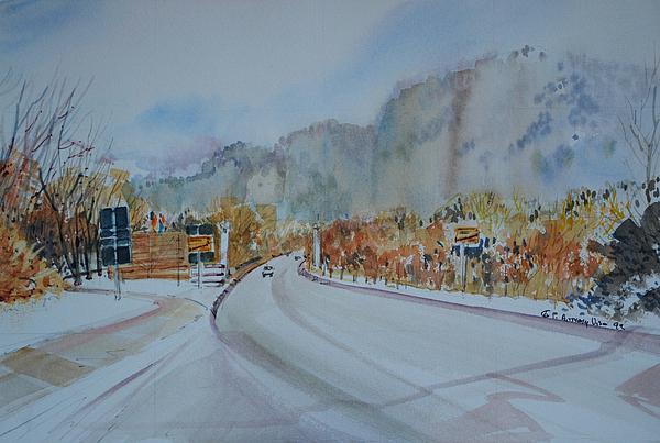 Bavaria Painting - Road To Bavaria by P Anthony Visco