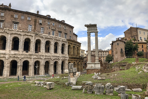 Teatro Di Marcello Photograph - Rome - Theatre Of Marcellus 1 by Joana Kruse