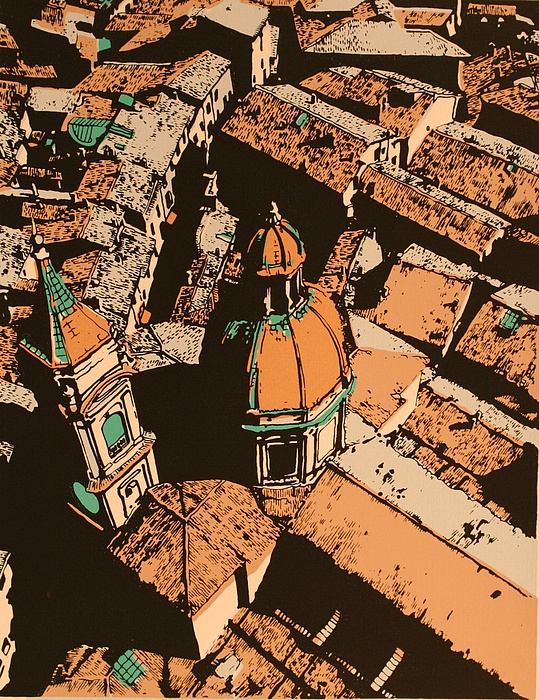 Roofs Of Bologna Print by Biagio Civale