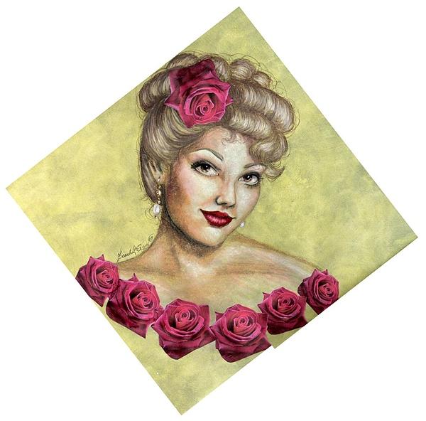 Portrait Drawing - Rose by Scarlett Royal