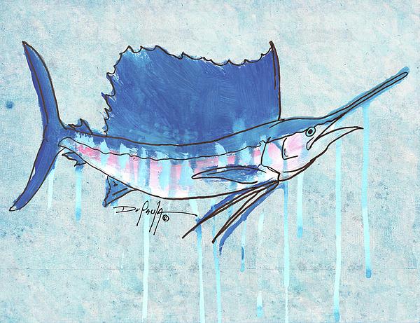 Sportfish Painting - Sailfish by William Depaula