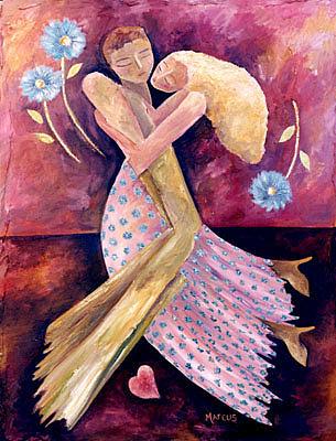 Samba 2 Painting by Leslie Marcus