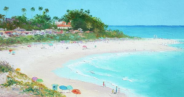 San Clemente Beach Painting - San Clemente Beach California by Jan Matson