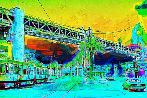 San Francisco Photograph - San Francisco Embarcadero And The Bay Bridge by Wingsdomain Art and Photography