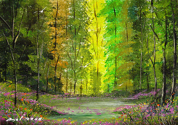 Impressionistic Painting - Santuario by Angel Ortiz
