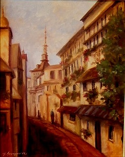 Street Scene Painting - Scarborough Afternoon by Ruth Stromswold