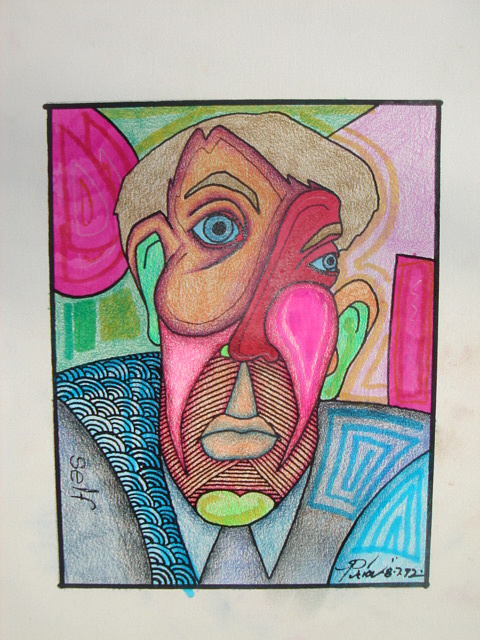 Self Portrait 3 Mixed Media by Houston Prior