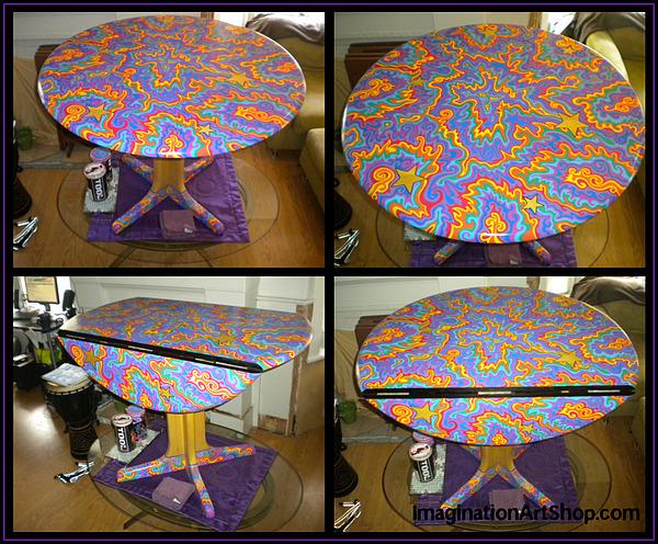 Sharpie Painting - Sharpie Star Table by Mandy Shupp